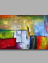 gotowy do powieszenia obraz olejny rozciągniętej ręcznie malowane na płótnie ściana sztuka streszczenie contempory Niebieski Zielony