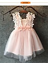 Ball Gown Knee-length Flower Girl Dress - Tulle Sleeveless with