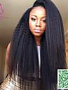 fullt spets människohår peruker virgin peruanska hår kinky raka 250% densitet människohår spetsar peruker för svarta kvinnor