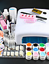 New Pro 36W UV GEL White Lamp & 12 Color UV Gel Nail Art Tool Kits Manicure Set