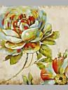 HANDMÅLAD Blommig/Botanisk Fyrkantig,Parfymerad En panel Kanvas Hang målad oljemålning For Hem-dekoration