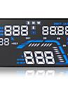 Q7 hud universelle affichage tete haute km / h de temps de la boussole detecteur de voiture du projet mph de la vitesse d\'elevation de