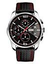 SKMEI Bărbați Ceas Sport Ceas de Mână Japoneză Quartz Calendar Cronograf Rezistent la Apă Piele Bandă Luxos Negru
