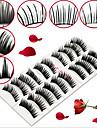 ögonfransar Hela ögonfransar Ögon Korsvis / Naturligt långa Förlängda / Lyfta ögonfransar / Volumized Handgjord Black Band 15mm