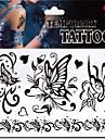 1 Tatouages Autocollants Series bijoux Series animales Series de fleur Series de totem AutresNon Toxique Motif Paillettes Bas du Dos