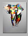 enda modern abstrakt ren handen dra redo att hänga elefanten dekorativa oljemålning