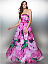 TS Couture Prom Formal Evening Dress - Pattern Dress A-line Strapless Ankle-length Chiffon with Pattern / Print
