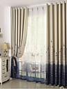 Deux Panneaux Le traitement de fenetre Mediterraneen Chambre a coucher Polyester Materiel Rideaux Tentures Decoration d\'interieur For
