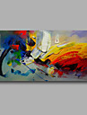 "Ready to hang Stretched Hand-Painted Oil Painting Canvas  40""x20"" Wall Art Abstract Orange Yellow Red Blue"
