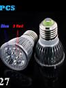 Dekorativ LED-växtlampa , E26/E27 10 W 5 SMD 2835 100 LM Röd / Blå AC 85-265 V