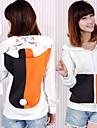 Inspirerad av Natsume Yuujinchou Katt Animé Cosplay-kostymer cosplay Pull Lappverk Tryck Vit Lång ärm Topp För Man Kvinna