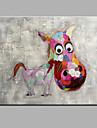 Pictat manual Animal Orizontal,Modern Un Panou Canava Hang-pictate pictură în ulei For Pagina de decorare