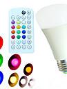 10W E26/E27 LED-globlampor A60(A19) 18 SMD 5730 800 lm Varmvit Kallvit Naturlig vit RGB Dimbar Fjärrstyrd Dekorativ AC 100-240 V 1 st
