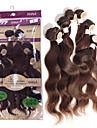 """anna brasilianska jungfru söta håret 6st förkroppsligar vinkar människohår väver # 2 mörkbrunt hår 2x12 """"2x14"""" 2x16 """"200g / förpackning"""