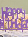 Vârfuri de Tort Nepersonalizat Monogramă Plastic Dur Zi de Naștere Liliac Temă Clasică 1 OPP
