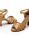 Chaussures de danse(Noir Marron Argent Or Leopard Autre) -Personnalisables-Talon Personnalise-Satin Similicuir-Latine Salsa Samba
