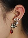 Cătușe pentru urechi Cristal Stil Punk Cristal Aliaj Flower Shape Argintiu Rosu Bijuterii Pentru Petrecere Zilnic Casual 2pcs