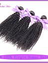 4pcs non transformes / lot 12-22inch indien vierge de poils crepus frises 100% indien cheveux # 1b remy armure bouclee cheveux humains