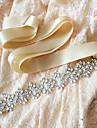 Cetim Casamento / Festa/Noite / Dia a Dia Faixa-Paetes / Micangas / Perolas / Cristal / Pedraria Feminino 98 ½polegadas(250cm)Paetes /