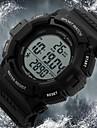 SKMEI Bărbați Ceas Sport Ceas de Mână Piloane de Menținut Carnea LCD Calendar Cronograf Rezistent la Apă alarmă Energie solară Ceas Sport