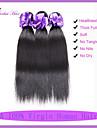 7a högsta kvalitet malaysianen jungfru hår raka 3 st malaysiska rakt hår mänskliga hårförlängningar malaysiska hår