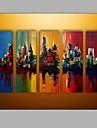 Peint a la main Paysages AbstraitsModern Cinq Panneaux Toile Peinture a l\'huile Hang-peint For Decoration d\'interieur