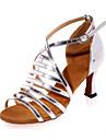 Latin - Pantofi de dans (Argintiu / Auriu) - NePersonalizabili - Damă