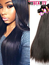 """4 st / lot 8 """"-30"""" 7a brasilianska jungfru hår rakt människohår väft 100% obearbetade brasilianskt remy hår väver"""