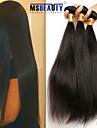 """3 st / lot 8 """"-22"""" 8a indiska raka hårförlängningar obearbetat jungfru människohår väver"""