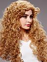 grande longueur des cheveux boucles lumiere europeenne Weave perruque blonde cheveux