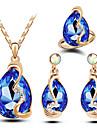 Seturi de bijuterii La modă bijuterii de lux Cristal Austriac Aliaj Picătură Galben Rosu Albastru Roz Albastru DeschisColiere Σκουλαρίκια