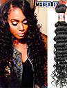 """1 st / lot 12 """"-28"""" 8a peruanska jungfru hår vinkar djupt mänskligt hårwefts 100% obearbetat peruanska remy hår väver"""