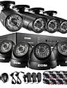 zosi®hd 8ch CCTV-system hdmi 960h dvr med 1TB hdd 8st 1000tvl ir utomhus videoövervakning säkerhet kamerasystem kit