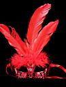 Masque Bal Masque Ange et Diable Fete / Celebration Deguisement d\'Halloween Rouge Dore Argent Couleur Pleine Masque Halloween Carnaval