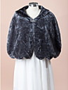 Wedding  Wraps / Fur Wraps Capes Sleeveless Faux Fur Gray Wedding / Party/Evening Wave-like Clasp