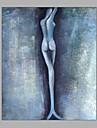 HANDMÅLAD MänniskorMedelhavet En panel Kanvas Hang målad oljemålning For Hem-dekoration