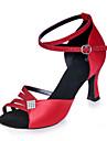 Non Customizable Women\'s Dance Shoes Sparkling Glitter Sparkling Glitter Latin Sandals Flared HeelPractice / Beginner / Indoor /
