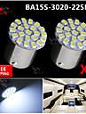 2x super lumineux blanc conduit 22 3020 BA15S cms 1156 signalisation arriere de voiture de tour ampoule 12v