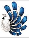 Dame Broșe Ștras Argilă imitație de diamant Aliaj La modă Elegant Păun BijuteriiNuntă Petrecere Ocazie specială Zi de Naștere Zilnic