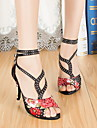 Non Customizable Women\'s Dance Shoes Leather / Patent Leather Leather / Patent Leather Latin / Jazz Heels Cuban HeelPractice / Beginner /