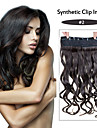 24inch 60cm 120G color 2# Clip in On Hair Extensions Wavy Clip On Hairpieces