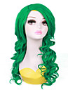 vert style cosplay d\'onde longue perruque syntheic