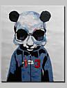HANDMÅLAD Abstrakt / Känd / DjurModerna En panel Kanvas Hang målad oljemålning For Hem-dekoration