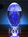 Alla hjärtans dag maneter glöd boll kristall liten nattlampa speldosa kreativa gåva ledde ljus lampa