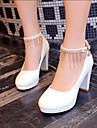 Women\'s Shoes Heel Heels / Platform Heels Wedding / Party & Evening / Dress Black / Red / White