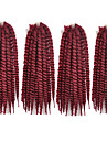 1st havana mambo twist fläta håret syntetisk 99j färg Kanekalon kinky marley vändningar fläta hårförlängning