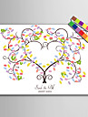 e-home® personalizate pictura de amprente panza printuri - copac culoare (include 12 fcolors de cerneală)