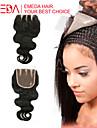 8inch-20inch Noir Ondulation naturelle Cheveux humains Fermeture Brun roux Dentelle Suisse 35g-45g gramme Cap Taille