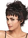 fashional kvinnor svart färg lady vågiga korta syntetiskt hår peruker