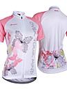 NUCKILY® Maillot de Cyclisme Femme Manches courtes VeloRespirable Resistant aux ultraviolets Permeabilite a l\'humidite Sac de cruche
